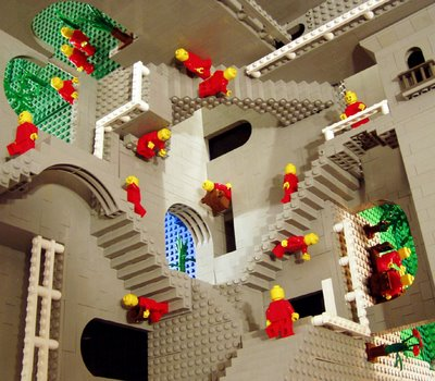 Lego Land Relativity Inspired by MC Escher