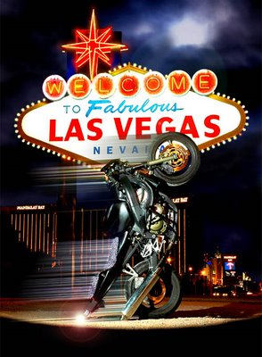 Las Vegas Motorcycle Optical Illusion