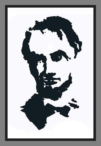 Abraham Lincoln Mosaic Illusion