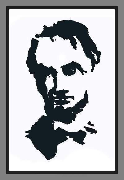 Abraham Lincoln Mosaic Illusion