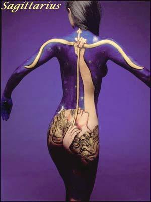 Zodiac Signs Through Body Art