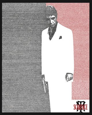 Al Pacino Scarface Optical Illusion