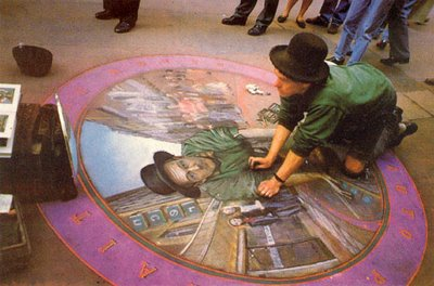 More Sidewalk Chalk Illusions