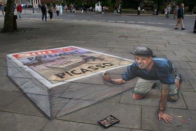 More Sidewalk Chalk Illusions