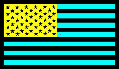 American Flag Optical Illusion