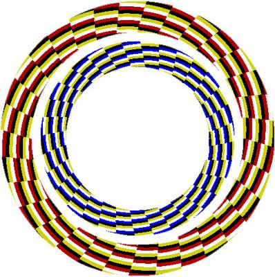 Rotating Spiral Illusion