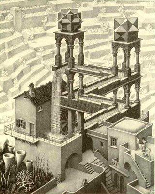 Eschers Waterfall Contructed in 3D