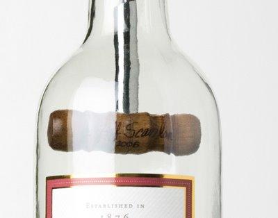 Cork Screw In Wine Bottle