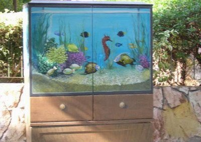 Painted electric boxes illusion for Electric fish tank