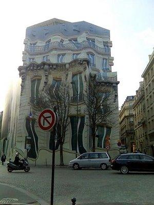 melting building mural
