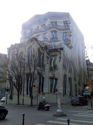 Melting building mural for Mural on building