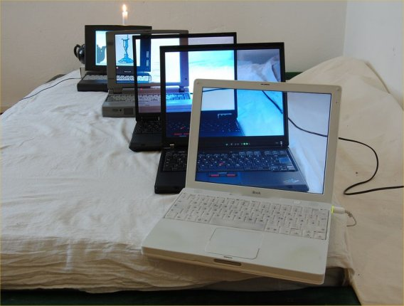 see thru laptop illusion