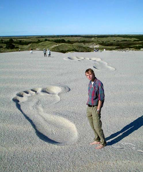 Big Foot Optical Illusion