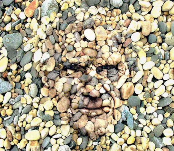 hidden optical illusion illusions faces face seeing visual interesting word rocks scary stone rock moillusions piedra con beach pebbles creepy