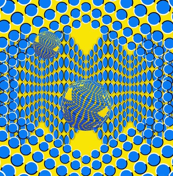 Moving Pattern - Akiyoshi Kitaoka - optical illusion 3