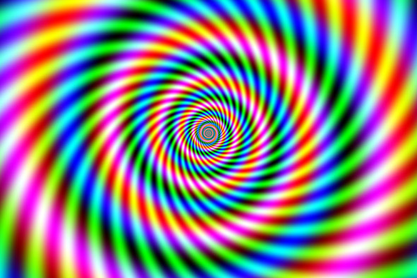 Optical Illusion Spiral - Concentric Circles 1
