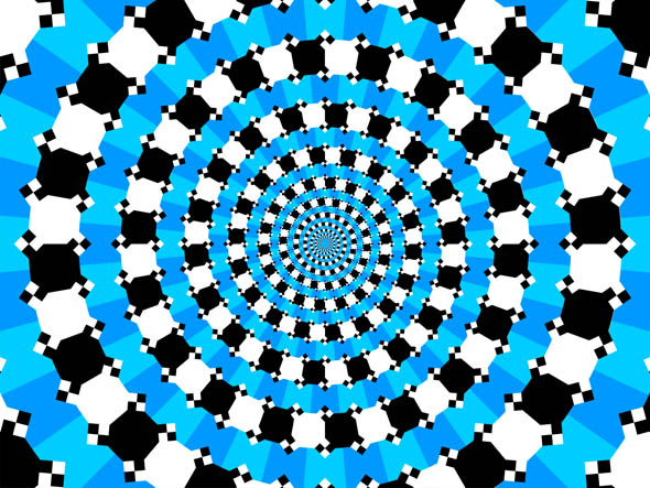 Optical Illusion Spiral - Concentric Circles 2