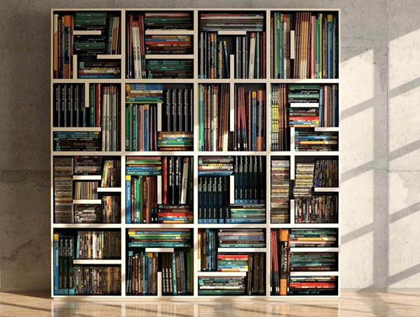 Bookshelves With Books ~ Another optical illusion bookshelf
