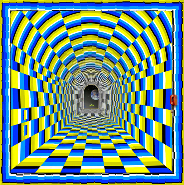 Tunnel Vision Optical Illusion