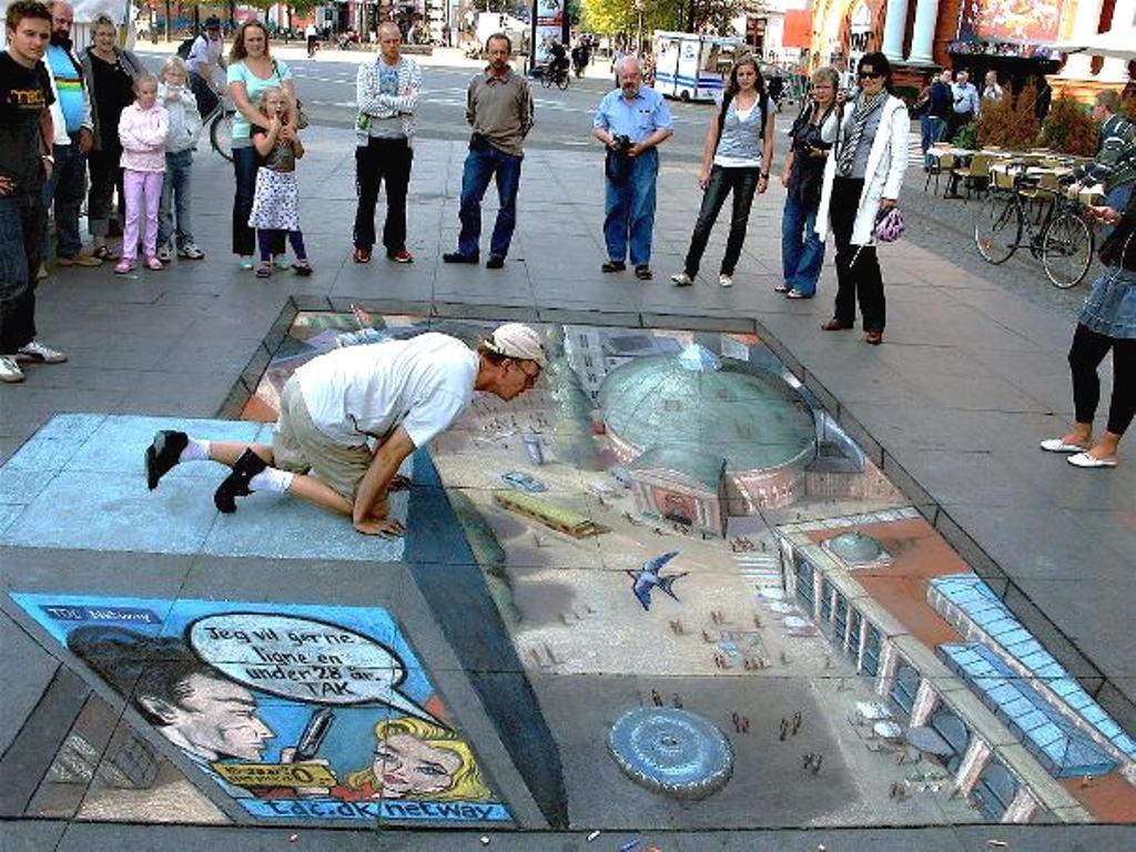 Amazing Street Art Illusion