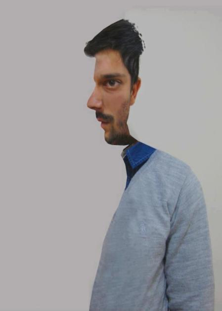 Half Man Optical Illusion