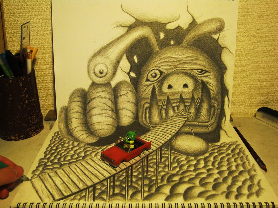 3D Monster Drawing