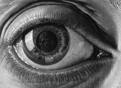 optical scary illusion illusions escher eye terrifying drawing eyes skull mc drawings artist absolutely pupil brain draw paintings hands realistic