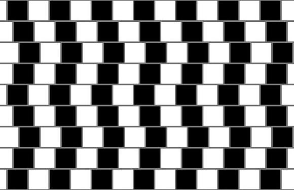Line Optical Designjet : Sloping lines optical illusion