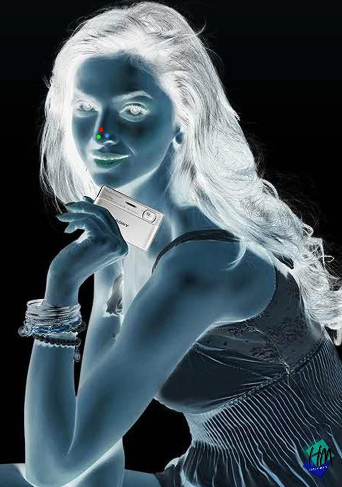 Girl With Credit Card Afterimage Optical Illusion