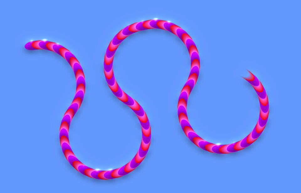 Line Optical Designjet : Crawling line optical illusion