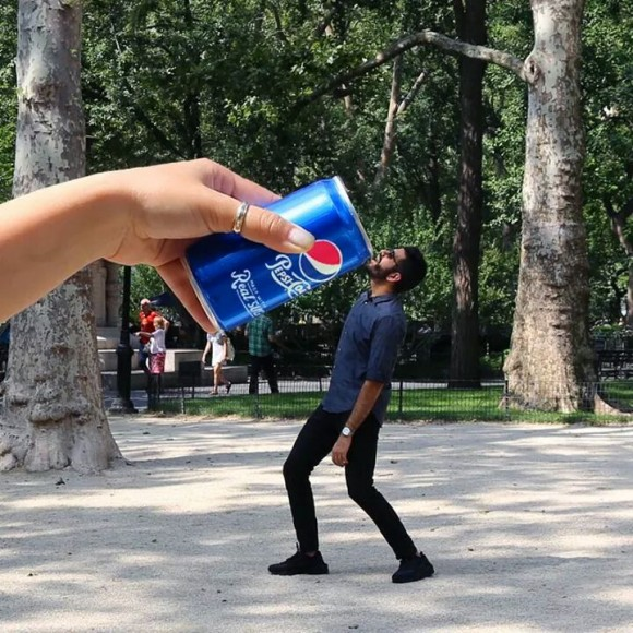 Pepsi Optical Illusion