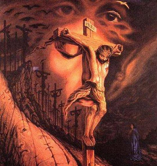 Jesus Christ Optical Illusion