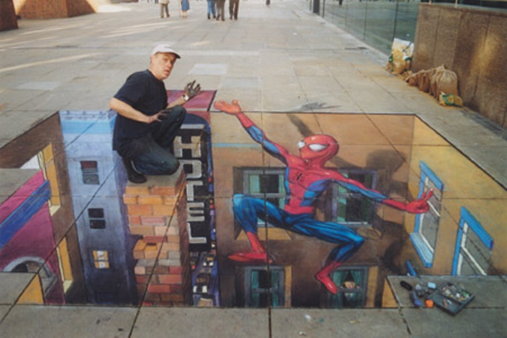 Spider Man To The Rescue Optical Illusion