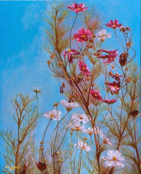 Woman in the Flowers Optical Illusion