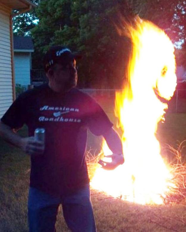 Happy Fire Optical Illusion