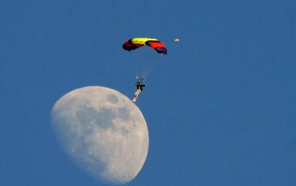 Parachuter Landing on ...