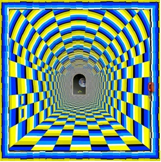 Awesome Moving Tunnel Optical Illusion