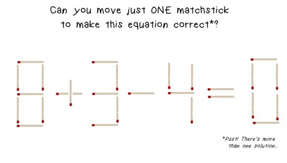 move just one matchstick math brain teaser