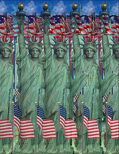Fun Statue Of Liberty Optical Illusion