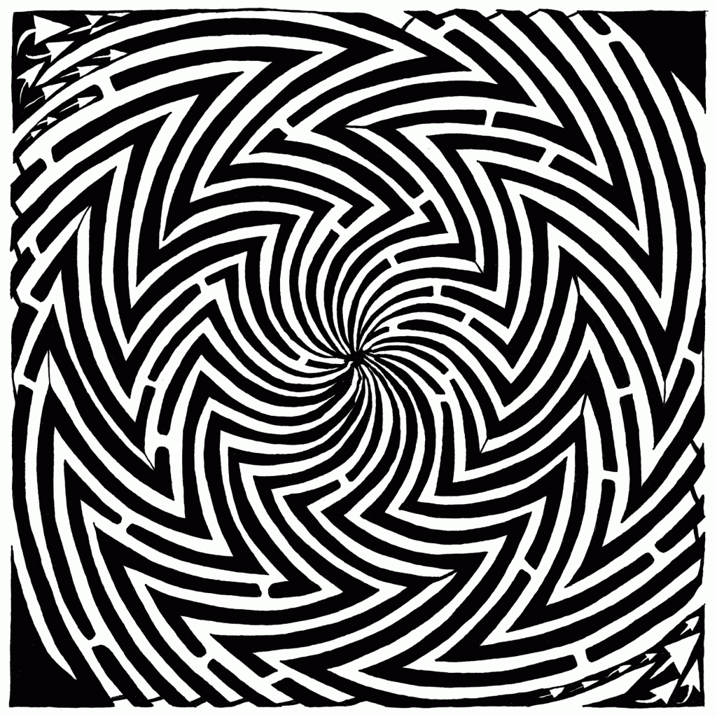 optical illusion illusions maze spinning frimer yonatan crazy stop please mazes moving super artist drawing swirly fine move prints year