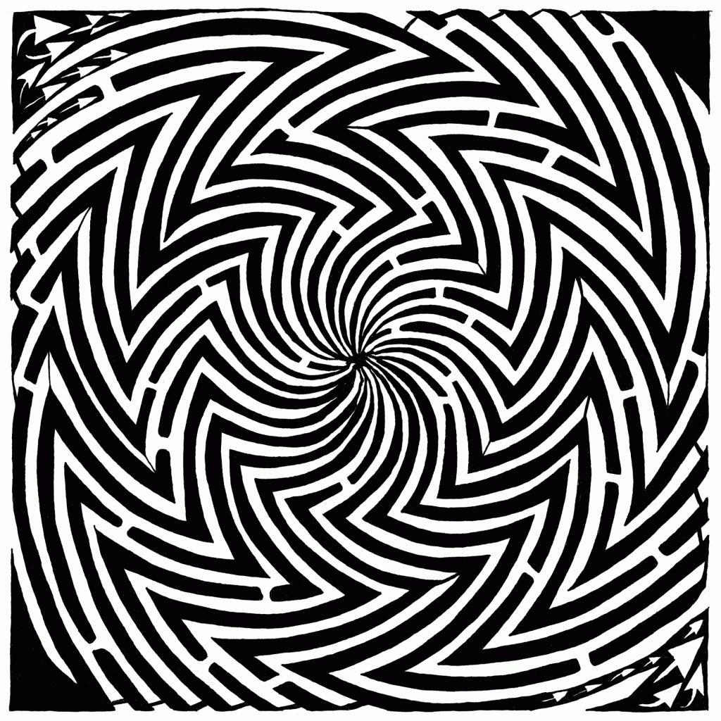 optical illusion maze complex