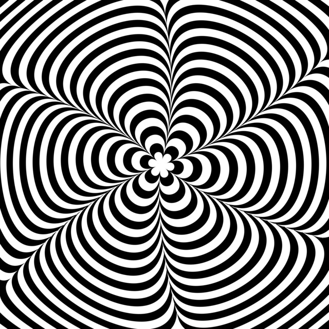 Moving Black And White Illusion