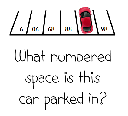 numbered parking space