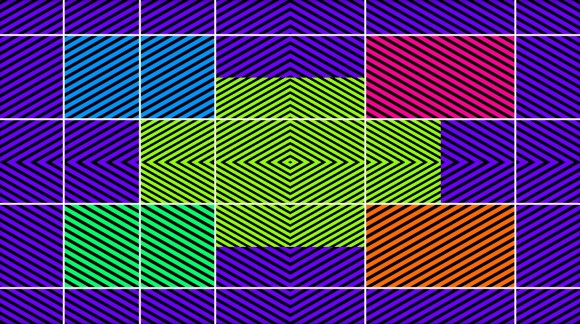 trippy crooked illusion lines