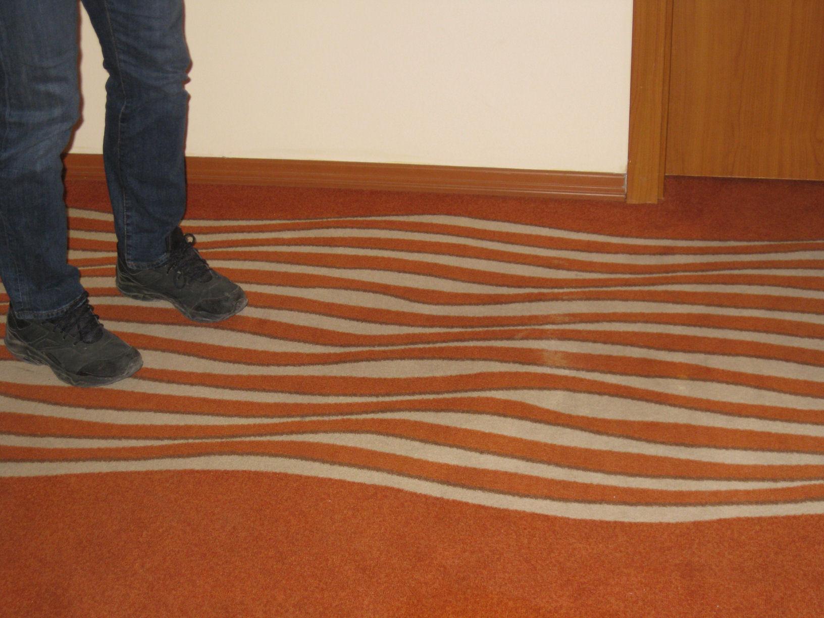 Crazy carpet optical illusion for Floor illusions