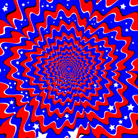 red white and blue patriotic illusion