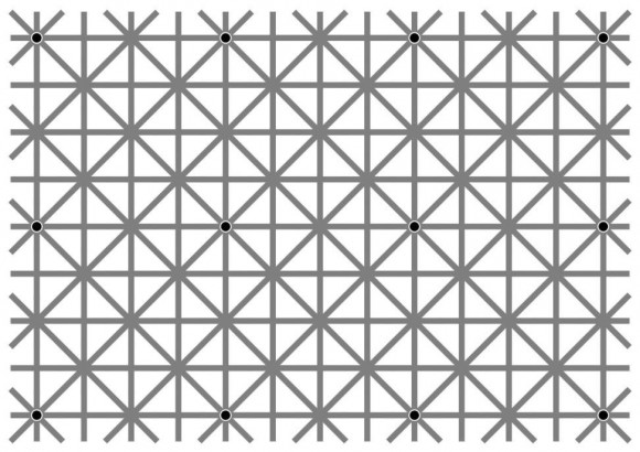Disappearing Black Dots Illusion