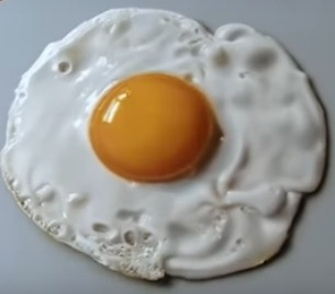 fried egg art