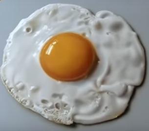 yummy 3d art fried egg illusion