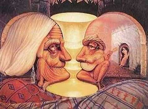 hidden people optical illusion